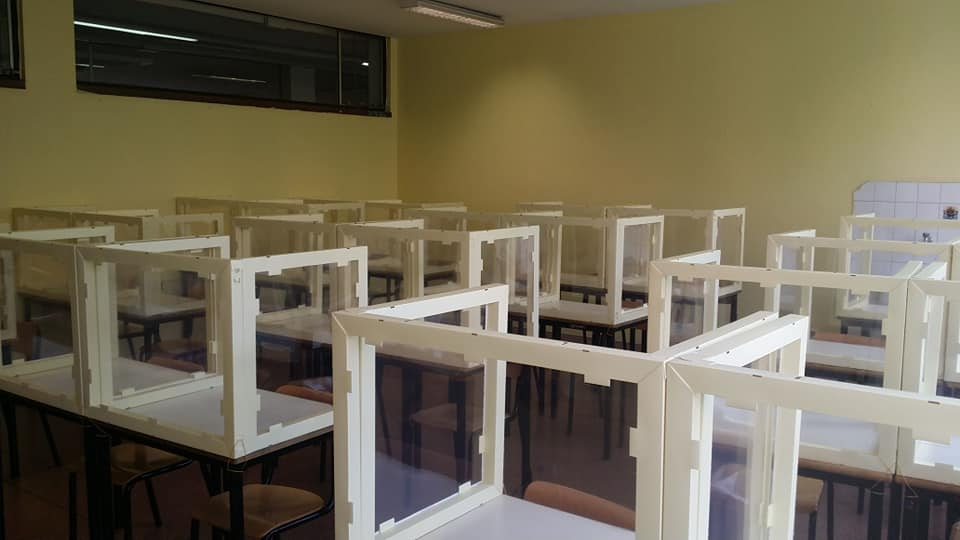 scuola settembre plexiglass