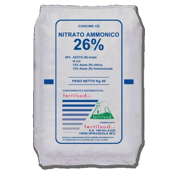 Fertilizzante azotato sotto forma di nitrato d'ammonio
