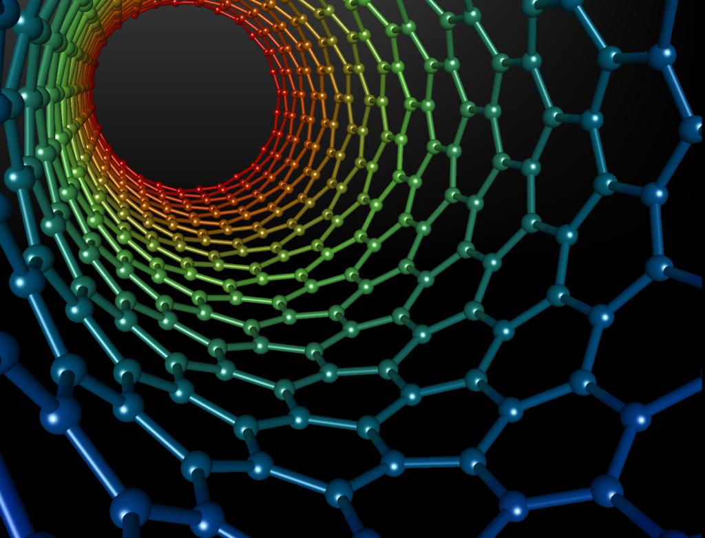 Nanotubi di carbonio utilizzati come ponte per le lesioni spinali. Credits: Michael Ströck (Wikipedia)