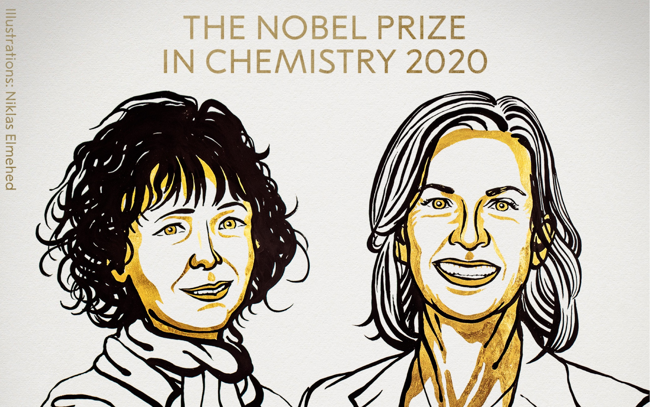 Premi Nobel per la Chimica 2020. Credits: Niklas Elmehed