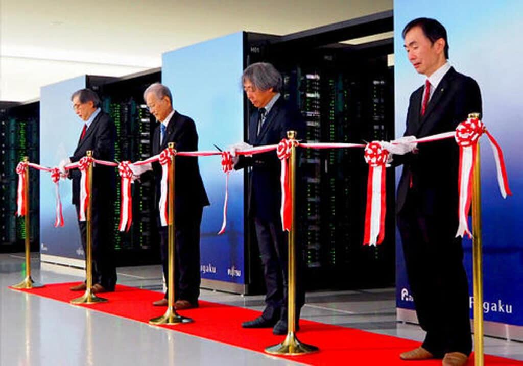 L'inaugurazione di Fugaku. Fonte: TechRepublic
