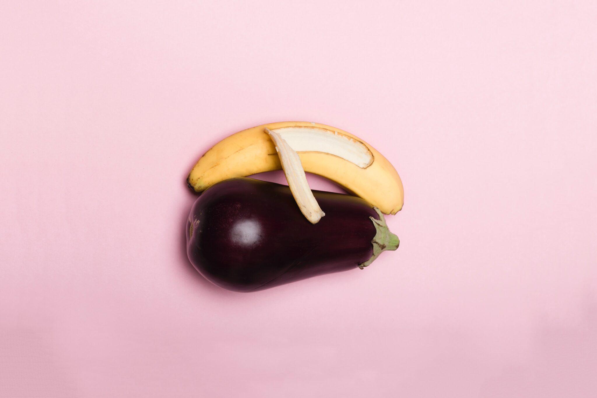 banana e melanzana rappresentano l'amore omosessuale